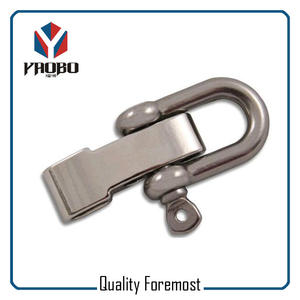 D Shackle With Adjustable,stainless steel shackle