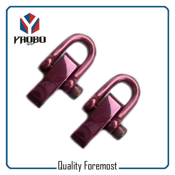 Colored Steel D Shackle