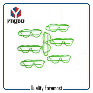 Green Color Glasses Paper Clips,metal Iron paper clips