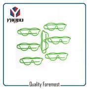 Grüne Farbe Gläser Büroklammern