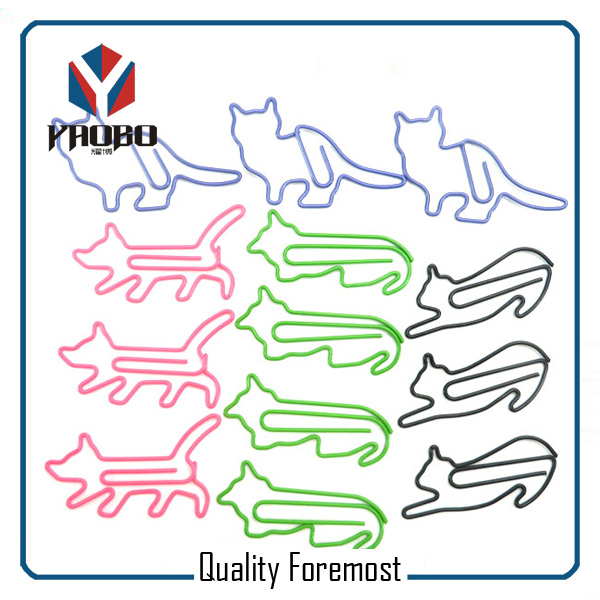 Metal Cat Paper Clips