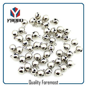 low price 8mm bells,Silver 8mm craft Bells,silver 8mm bells