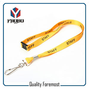 lanyard for card supplier,yellow lanyard with snap hook