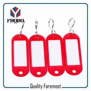 red plastic tags,colored plastic tags,plastic tags with hooks for key