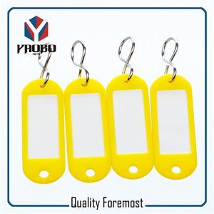 Fashion High Quality Yellow Plastic Tags