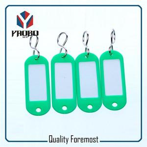 Fashion High Quality Green Plastic Tags