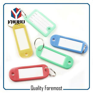 Fashion High Quality Colored Plastic Tag
