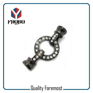 clasp for jewelry findings,black connecter for jewelry finding