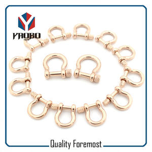 Rose Gold Bow Shackles,High quality rose gold bow shackles