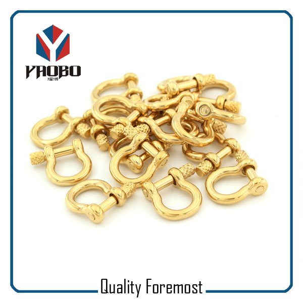 Custom High Quality Gold Color Bow Shackles
