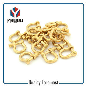 Gold Color Bow Shackles,stainless steel Gold Bow Shackles