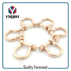 Rose Gold Color Shackles​,custom rose gold shackle