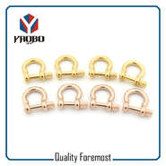 Custom High Quality Gold Color 3mm Bow Shackles