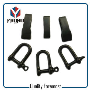 Black D Shackle With Adjustable,black Shackle With Adjustable