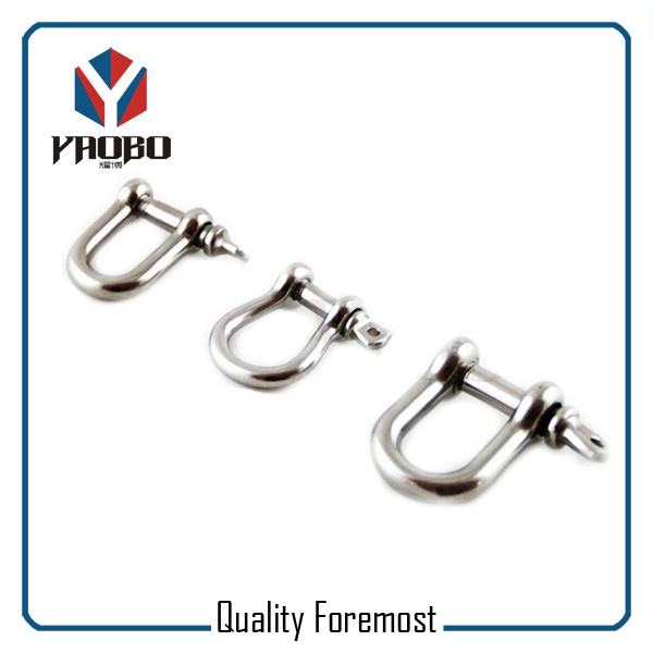 Custom High Quality Stainless Steel D Shackle With Clevis Pin