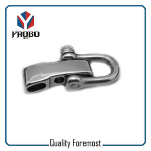 D Shackles With Adjuster Factory,custom stainless steel D shackles