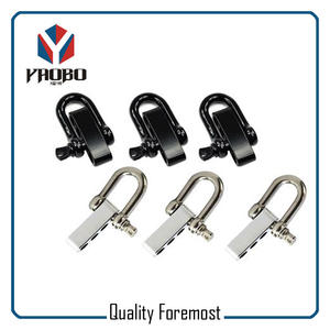 Black and Silver Color D Shackles,D shackles with 4 holes adjuster