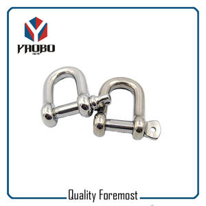 Manufacture 5mm D Shackles,stainless steel D Shackles factory