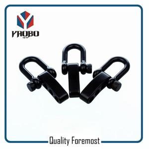Stainless Steel Black Shackles,black D type shackle for bracelet
