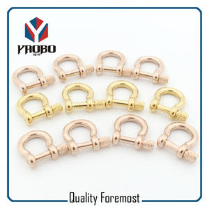 Fashion 3mm Bow Shackles,rose gold bow Shackles
