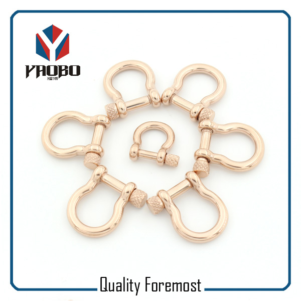 Custom High Quality 3mm 4mm Rose Gold Bow Shackles