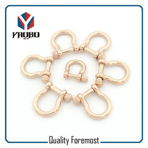 3mm 4mm Rose Gold Bow Shackles,rose gold Bow Shackles