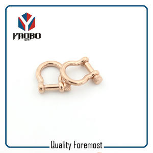 Fashion 4mm Bow Shackles,rose gold bow 4mm Shackles