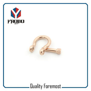 Wholesale 4mm Bow Shackles,rose gold bow 4mm Shackles