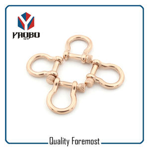 4mm Shackles Stock,rose gold bow 4mm Shackles
