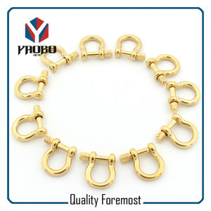 3mm Shackles Stock,light gold bow 3mm Shackles