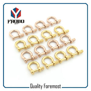 Stainless Steel Shackles Stock,gold bow 3mm Shackles