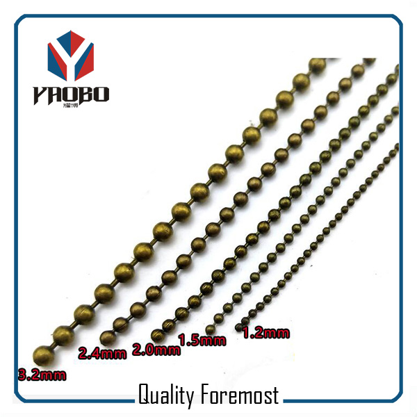 High Quality Ball Chain Antique Brass Various Size Ball Chain