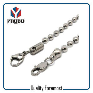 Custom High Quality Metal Iron Ball Chain With Lobster For Jewelry