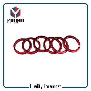 High Quality Split Ring Red Color Flat Split Ring