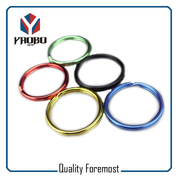 High Quality Split Ring Various Color Key Ring