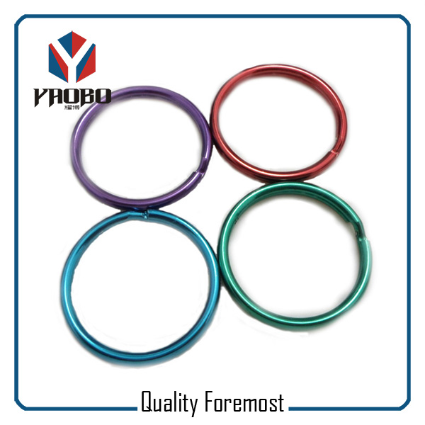 High Quality Split Ring Green and Red Key Ring