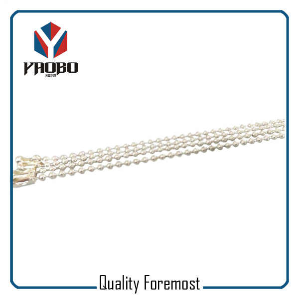 Shinny Silver Ball Chain with clasp