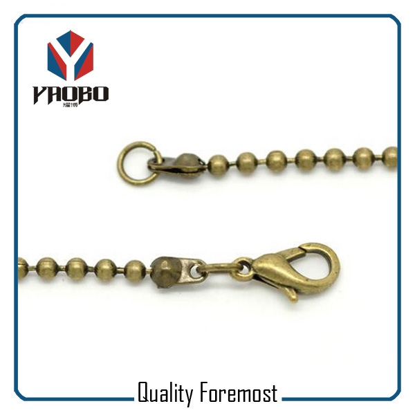 Antique Brass Ball Chain with clasp