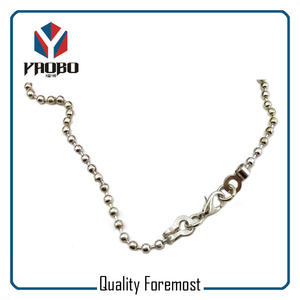 Silver Ball Chain For Bracelet,Silver Ball Chain with lobster