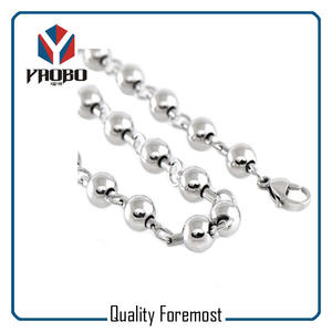 Stainless Steel Bead Chain With Lobster,Stainless Steel Ball Chain