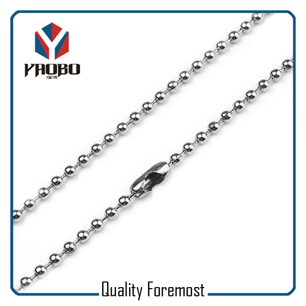 Stainless Steel Ball Chain With Clasp