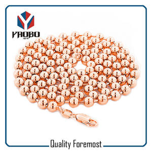 Rose Gold Stainless Steel Ball Chain,Steel Ball Chain With Clasp