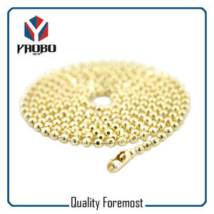 Light Gold Stainless Steel Ball Chain,Gold Steel Ball Chain