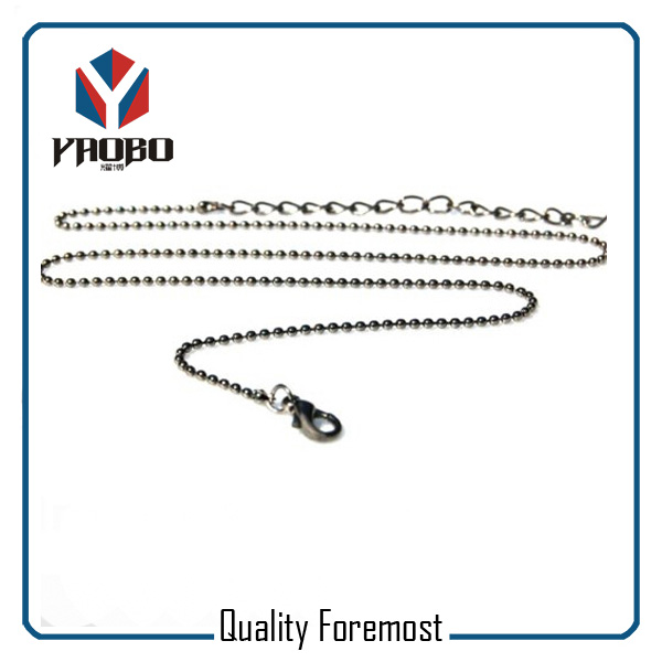 Stainless Steel Bead Chain Necklace