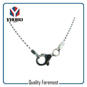 Stainless Steel Bead Chain With Clasp