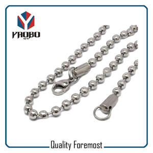 Silver Bead Chain With Lobster,stainless Steel Bead Chain