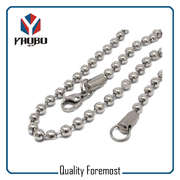 Silver Bead Chain With Lobster