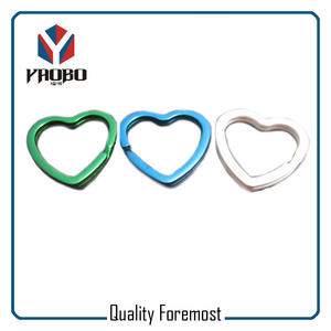 Wholesale Heart Split Ring,Wholesale colored heart key ring