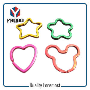 Shaped Split Ring Factory,colored shaped key ring