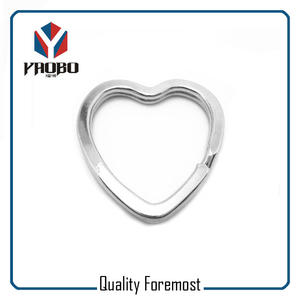 Metal Heart Split Ring